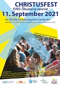 Plakat Orgelspaziergänge Karlsruhe 2021